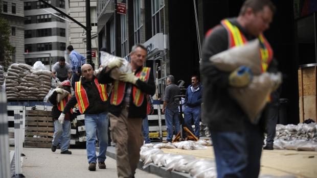 Hurricane Sandy preparation in New York