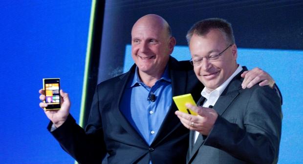 Microsoft's Steve Ballmer and Nokia's Stephen Elop
