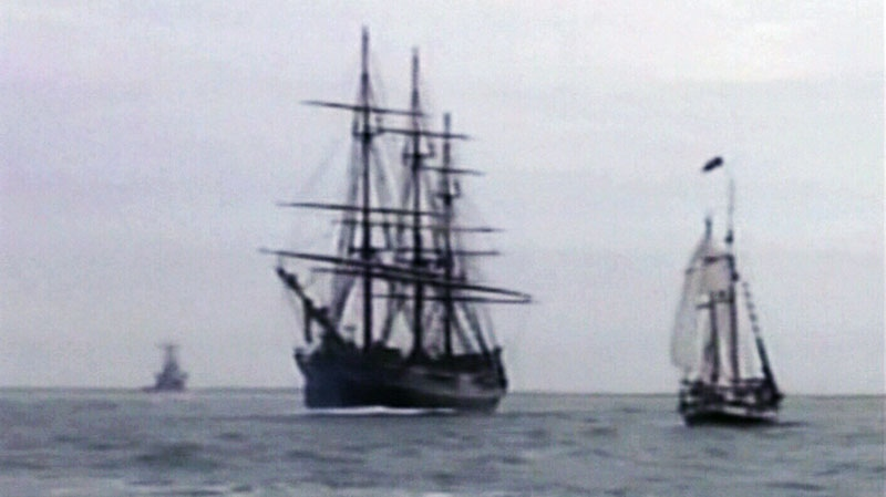 A crew was forced to abandon the Canadian-built tall ship HMS Bounty after it was caught in Hurricane Sandy off the North Carolina coast.
