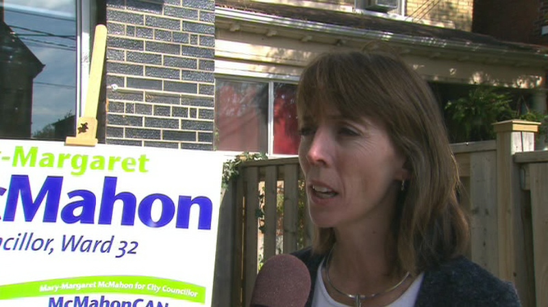 Mary-Margaret McMahon, Ward 32 (Beaches-East York) candidate, on Saturday, Oct. 23.