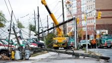 Sandy hits Canada