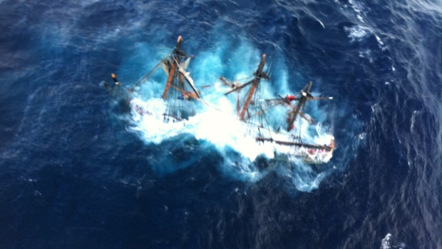 HMS Bounty Hurricane Sandy missing captain