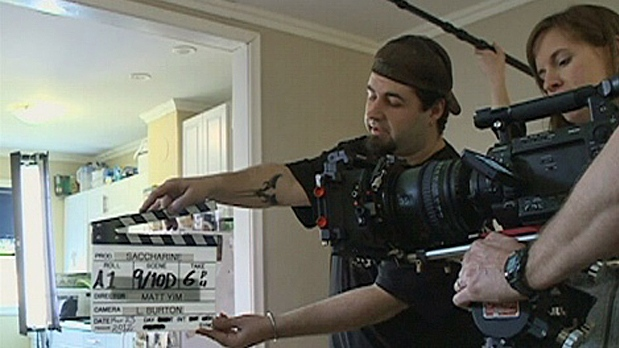 A film shoot gets underway in this file photo.