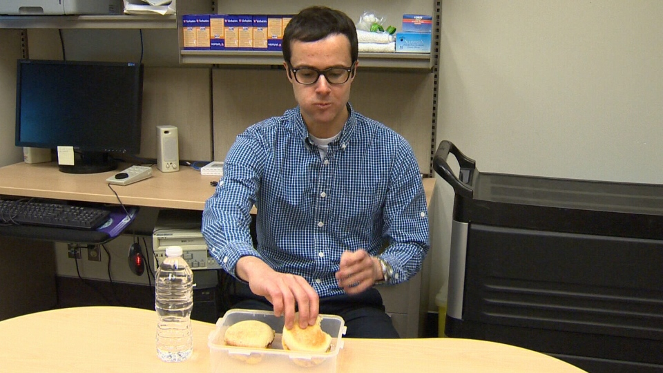 Researchers in Calgary conducted the study by giving two breakfast sandwiches to about 20 healthy subjects.