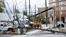 Toronto crews work to restore damage after Sandy