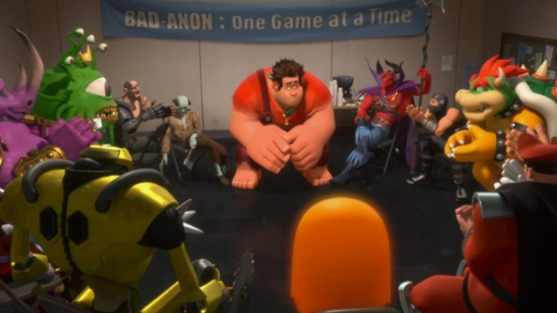Ralph, left, voiced by John C. Reilly in a scene from Walt Disney Pictures' 'Wreck-It Ralph.'