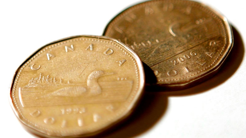 Canadian dollar coins, or Loonies, are shown in Ottawa on Friday Oct. 10, 2008. (Sean Kilpatrick / THE CANADIAN PRESS)