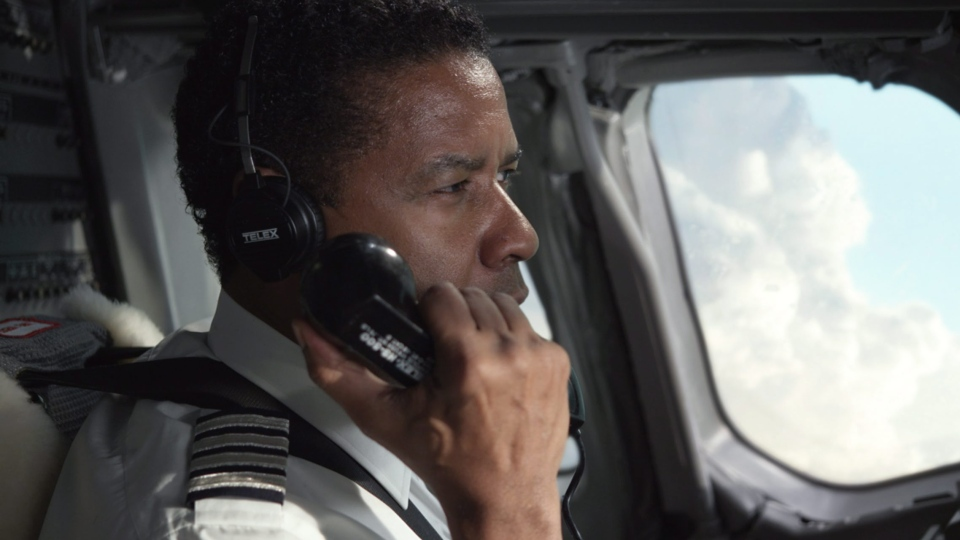 Denzel Washington portraying Whip Whitaker in a scene from Paramount Pictures' 'Flight.'