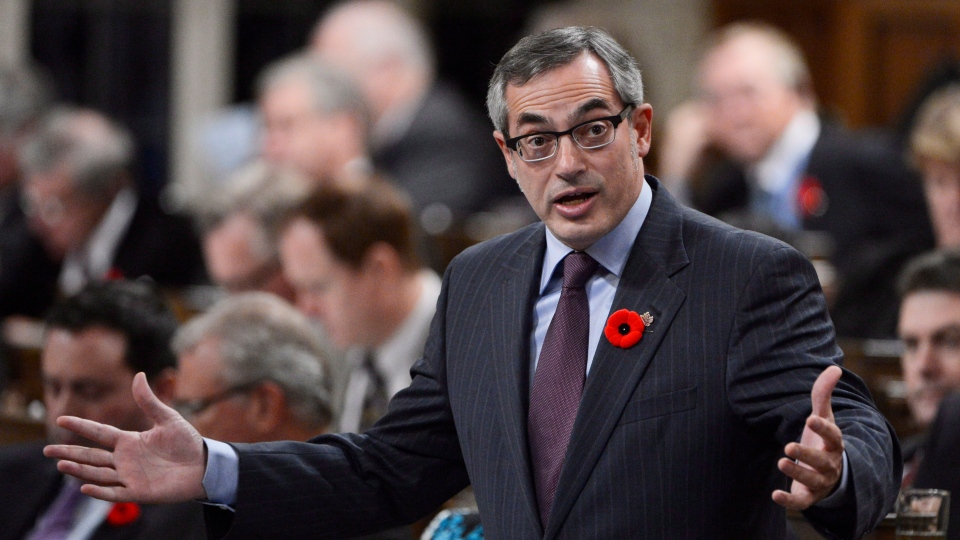President of the Treasury Board Tony Clement responds to a question during question period in the House of Commons in Ottawa, Tuesday, Oct. 30, 2012. (Adrian Wyld / THE CANADIAN PRESS)