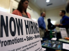 Undated file photo of a jobs fair.