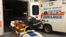 Emergency vehicles are seen at the Waterloo Region EMS headquarters in Cambridge, Ont. on Friday, Nov. 2, 2012. (Frank Lynn / CTV Kitchener)