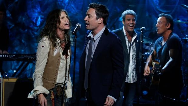 Tyler, Fallon, Rivera, Springsteen for Sandy