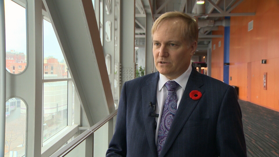 B.C. NDP MP Peter Julian speaks with CTV in Montreal on Saturday, Nov. 3, 2012.