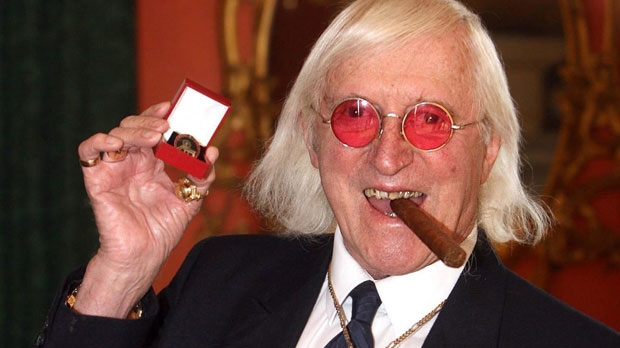 Sir Jimmy Savile, who for decades was a fixture on British television, is seen in this image on March 25, 2008. (AP / Lewis Whyld/PA)