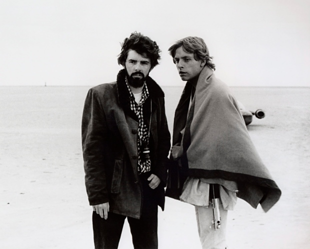 George Lucas and Mark Hamill in March, 1976.