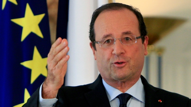 Francois Hollande in Lebanon, Nov. 4, 2012.