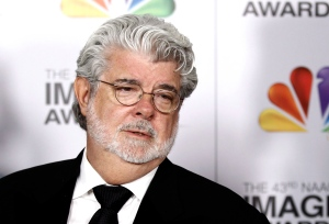 George Lucas arrives at the 43rd NAACP Image Awards in Los Angeles on Feb. 17, 2012. (AP / Matt Sayles)