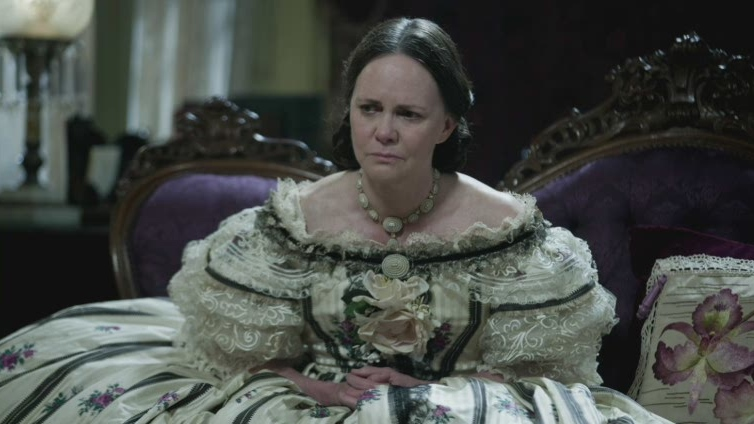 Actress Sally Field portrays first lady Mary Todd Lincoln in the movie 'Lincoln.'