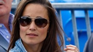 Pippa Middleton, sister of Kate, Duchess of Cambridge, is seen in the audience at the Queen's Grass Court Championship in London on Thursday, June 9, 2011. (AP /Kirsty Wigglesworth)