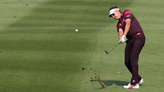 Ian Poulter in Dongguan, China on Nov. 4, 2012.