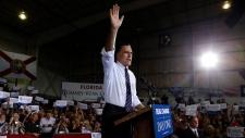 Mitt Romney campaigns in Florida day before electi