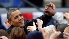 Obama campaigns on eve of election