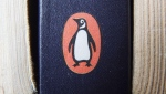 A book on display with the penguin logo. in Cirencester, England. (AP Photo/Tim Ireland/PA)