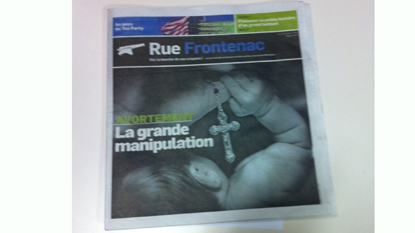 The first print edition of Rue Frontenac (Oct. 28, 2010)