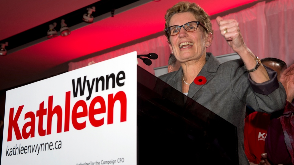 Kathleen Wynne announces her intention to run for the leadership of the Ontario Liberal Party at a rally in Toronto on Monday Nov. 5, 2012. (Frank Gunn / THE CANADIAN PRESS)
