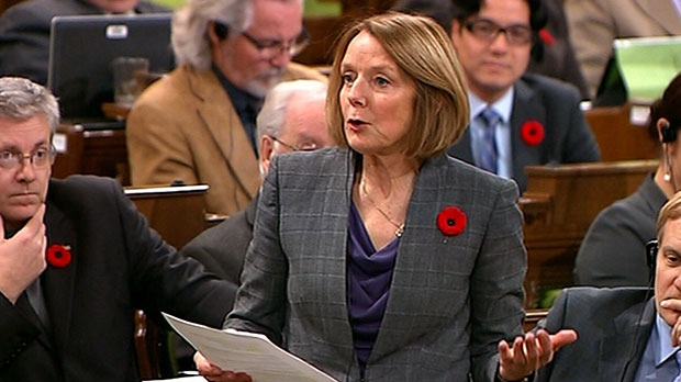NDP finance critic Peggy Nash speaks during question period in the House of Commons on Parliament Hill in Ottawa, Monday, Nov. 5, 2012.