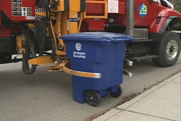 Blue recycling bins will be dropped off