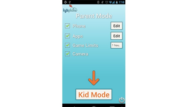 Kytephone aplication for Android