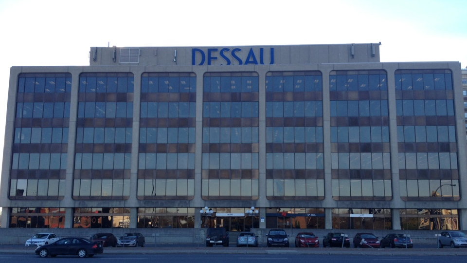 The permanent anti-corruption squad raided Dessau offices on Tuesday, Nov. 6, 2012 (Pedro Querido / CTV Montreal)