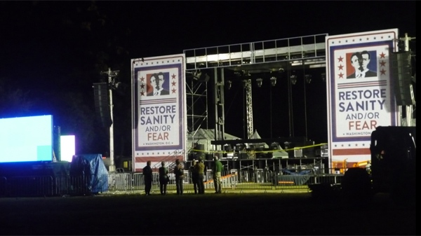The stage is set ahead of the Colbert-Stewart rallies in Washington D.C.