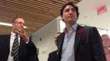 Liberal MP Justin Trudeau visits Toronto school
