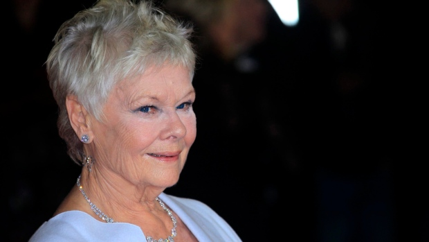 Judi Dench arrives at premiere