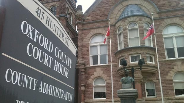 The courthouse in Woodstock, Ont. is seen on Tuesday, Nov. 6, 2012. (Phil Molto / CTV Kitchener)