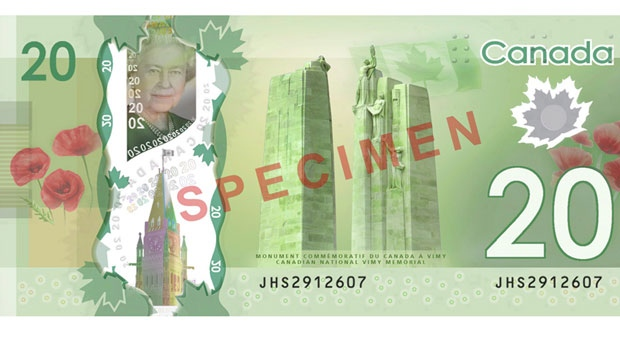 Vimy Ridge on new $20 bill