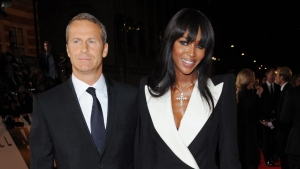 Russian real estate entrepreneur Vladislav Doronin, left, and model Naomi Campbell arrive at the world premiere of 'Skyfall' at the Royal Albert Hall on Tuesday, Oct. 23, 2012 in London. (AP / Stewart Wilson / Invision)