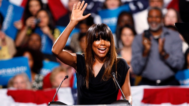 Actress Gabrielle Union at Obama rally