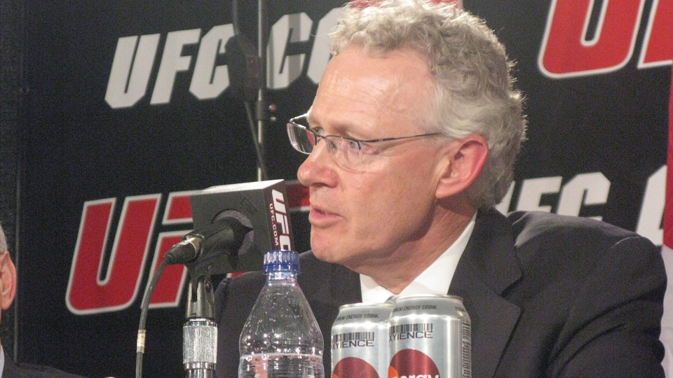 Former CFL commissioner Tom Wright speaks as he is announced as director of operations for the UFC's new Canadian office in Toronto on Tuesda,y May 25, 2010. (Neil Davidson / THE CANADIAN PRESS)