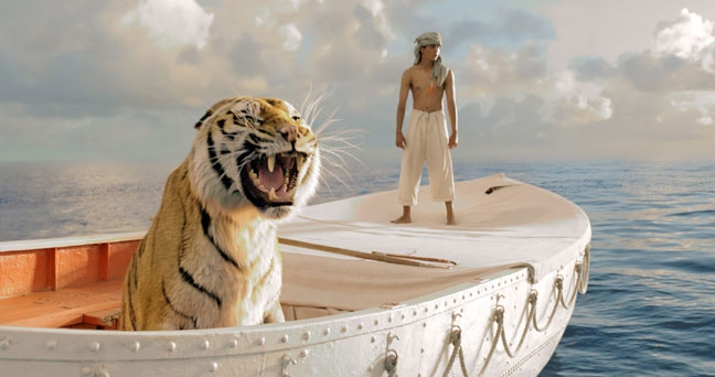 Suraj Sharma as Pi Patel in a scene from 20th Century Fox's 'Life of Pi'