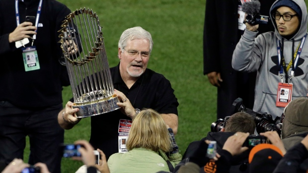 SF Giants GM Brian Sabean on Oct. 28, 2012.