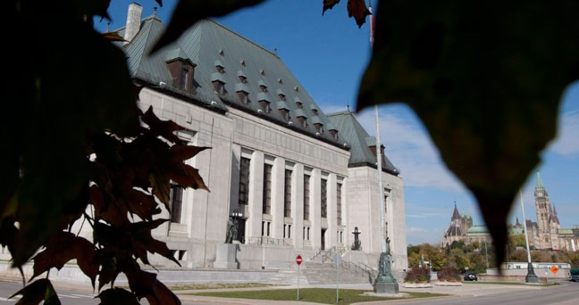 The Supreme Court of Canada is seen in Ottawa, Ont. Tuesday October 2, 2012. (Adrian Wyld / THE CANADIAN PRESS)