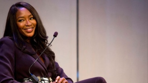 """Model Naomi Campbell participates in """"The Currency of Culture in Marketing"""" seminar at Advertising Week on Monday, Oct. 1, 2012, in New York. (Photo by Charles Sykes/Invision for Advertising Week/AP Images)"""
