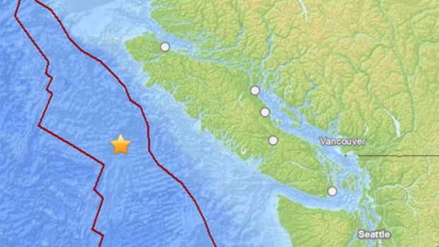 Eartquake Reports: 3 reports from Guatamala,Vancouver Island and California Image