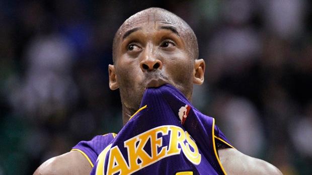 L.A. Lakers struggle loss Utah Jazz Kobe Bryant