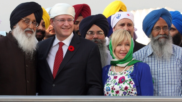 Stephen and Laureen Harper in India