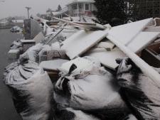 Storm sandy new jersey snow winter debris