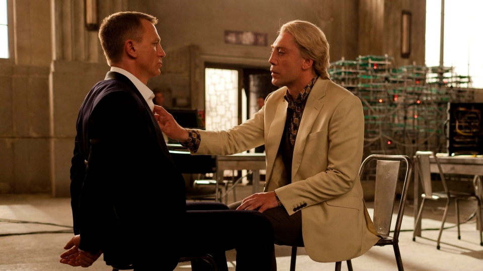 Daniel Craig, left, and Javier Bardem in Sony Pictures Canada's 'Skyfall'